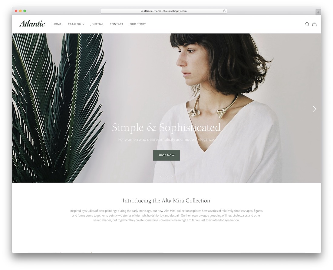 atlantic shopify jewelry theme