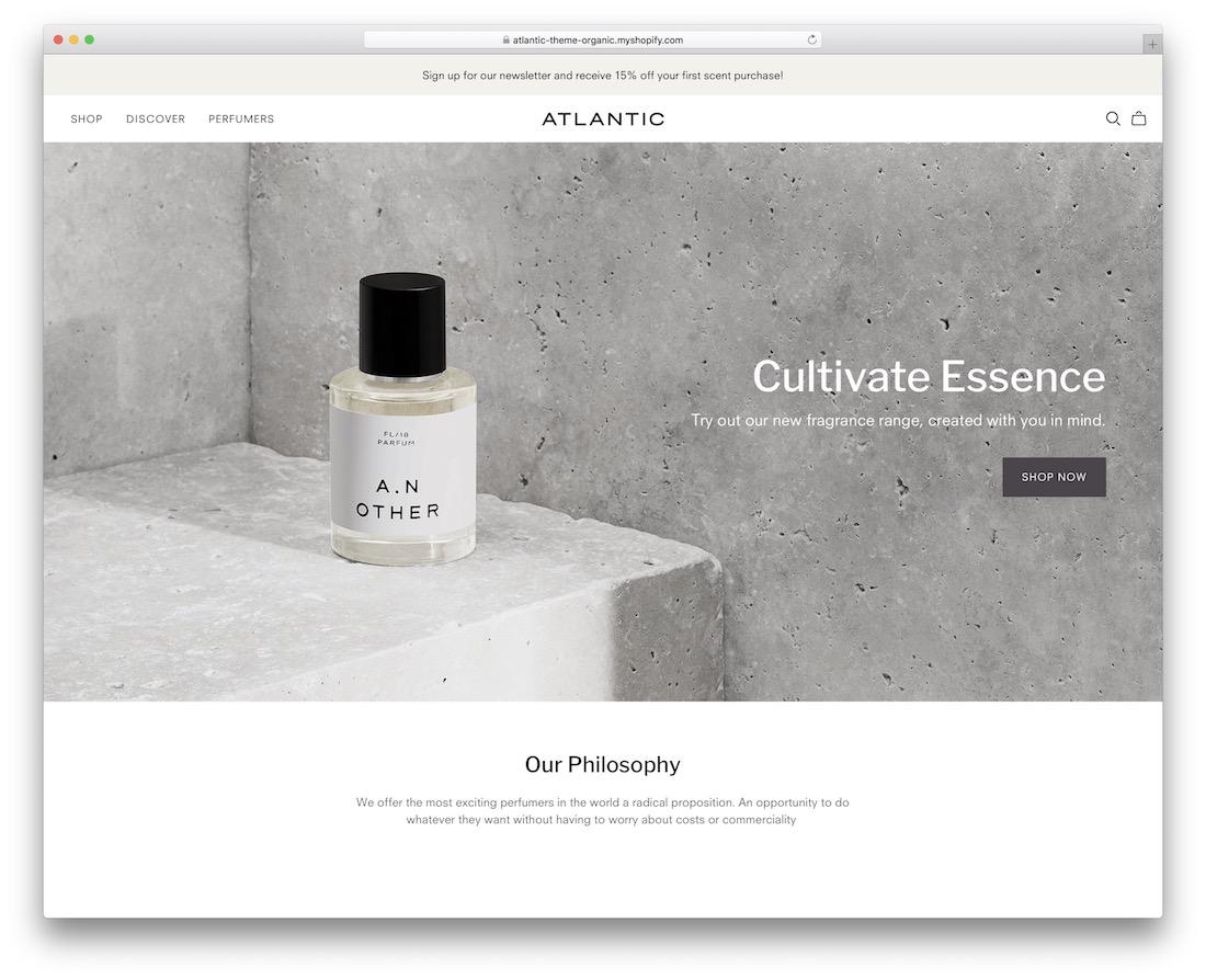 atlantic shopify subscription theme