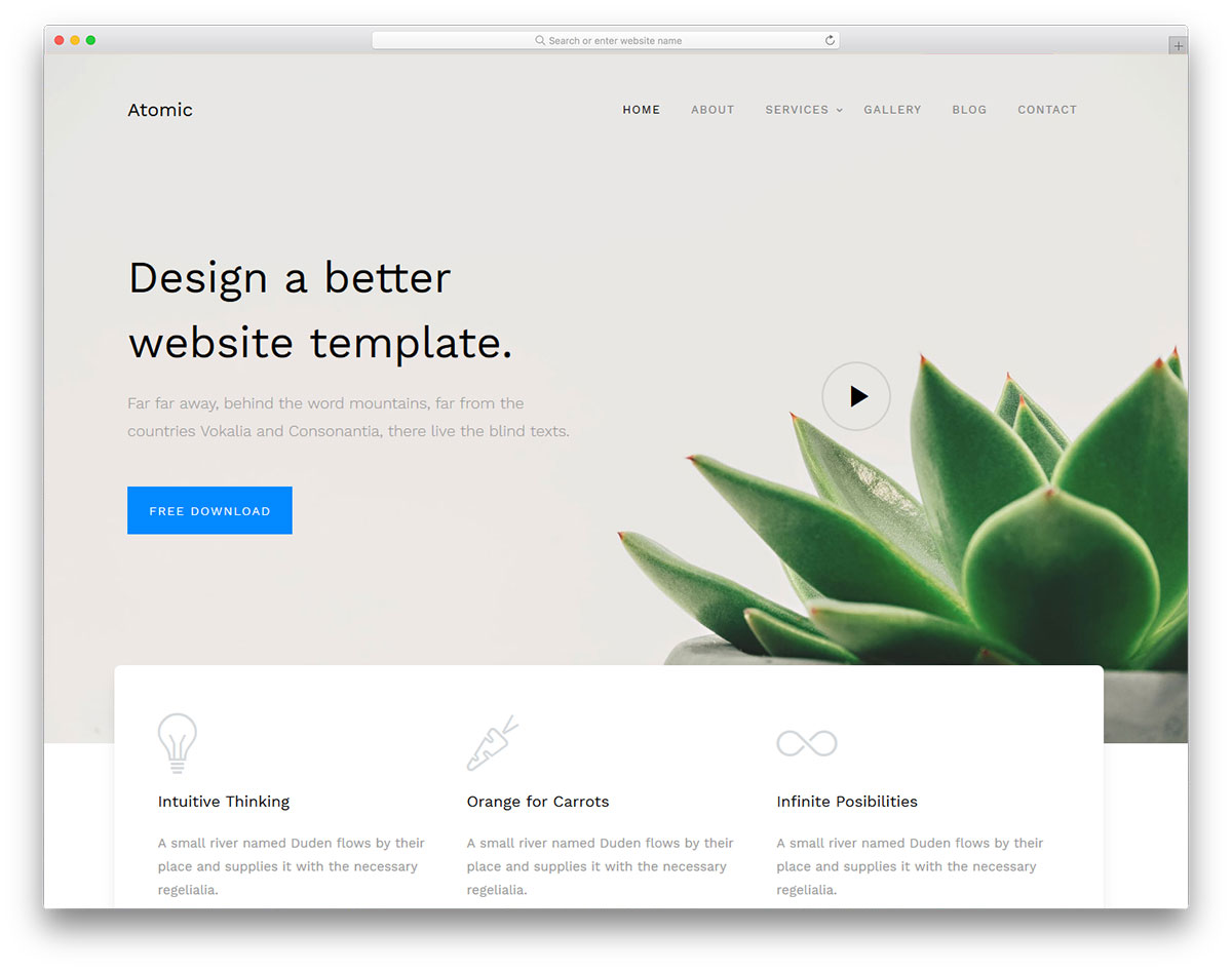 Atomic Best Free Business Website Template 2019 Colorlib