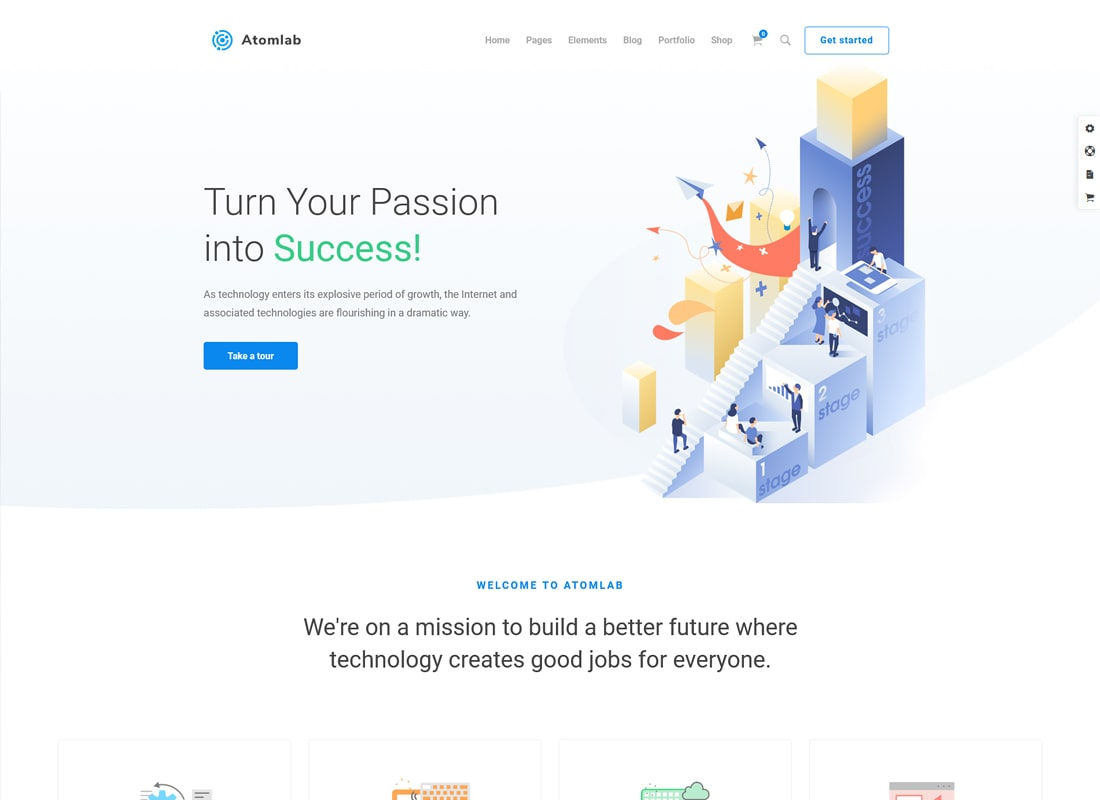 Atomlab | Multi-Purpose Startup WordPress Theme