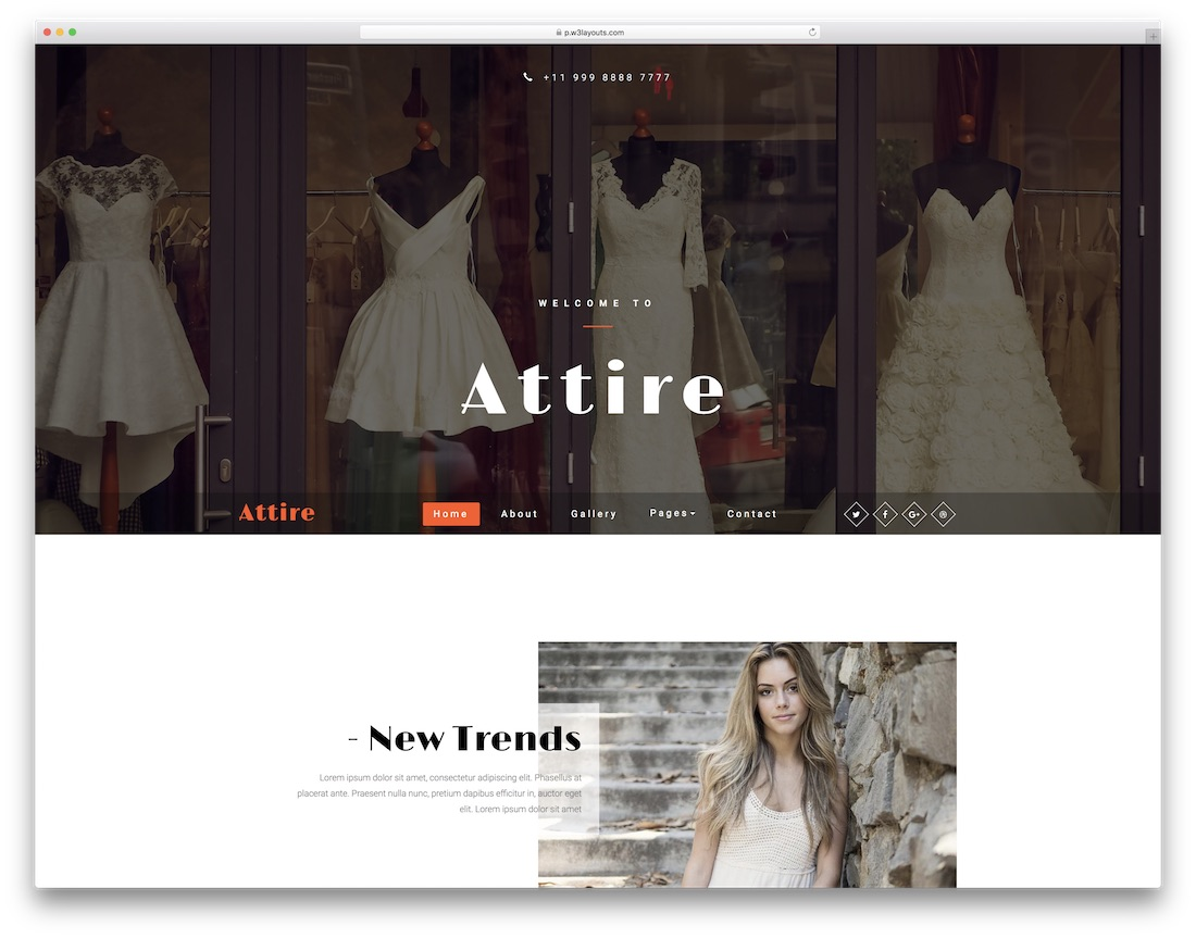 28 best free fashion website templates 2018 colorlib attire fashion website template accmission Image collections