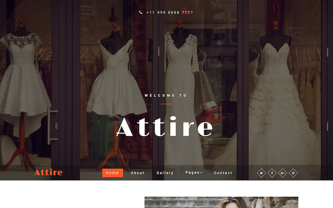 attire free fashion website template