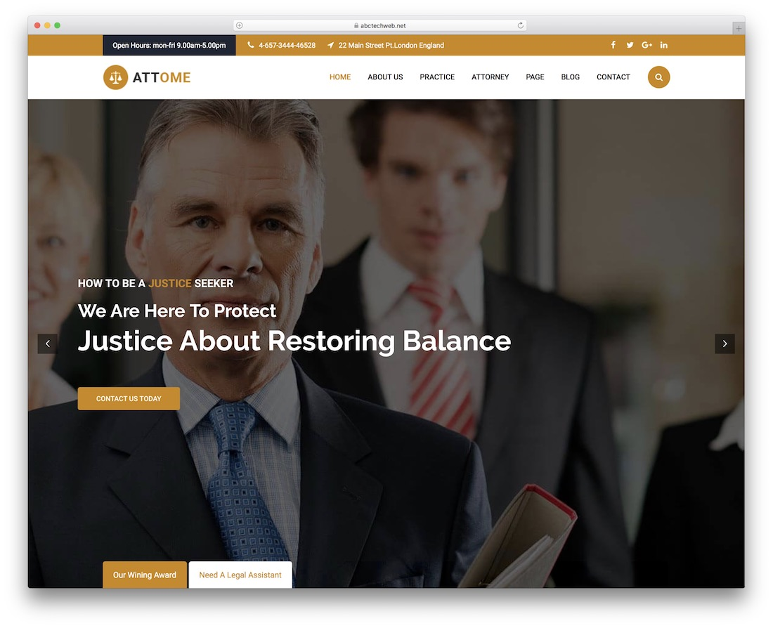attome lawyer website template