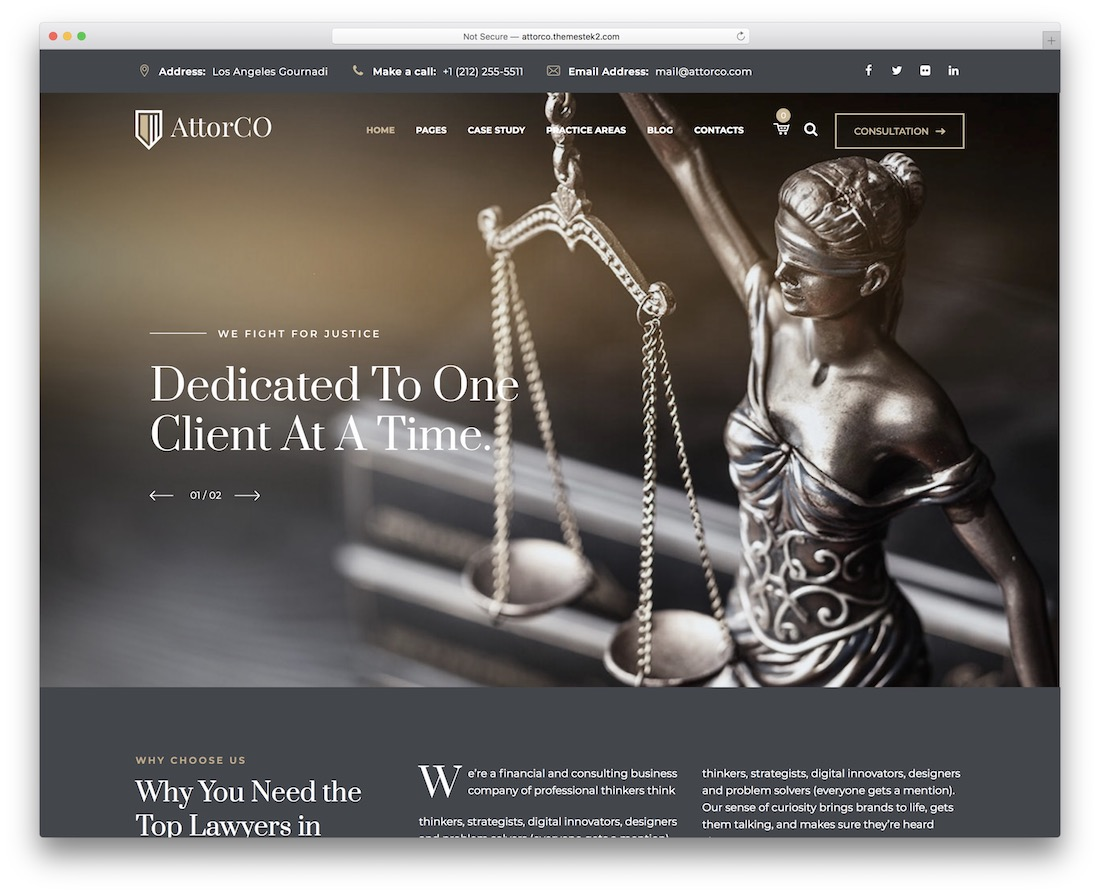 attorco lawyer website template