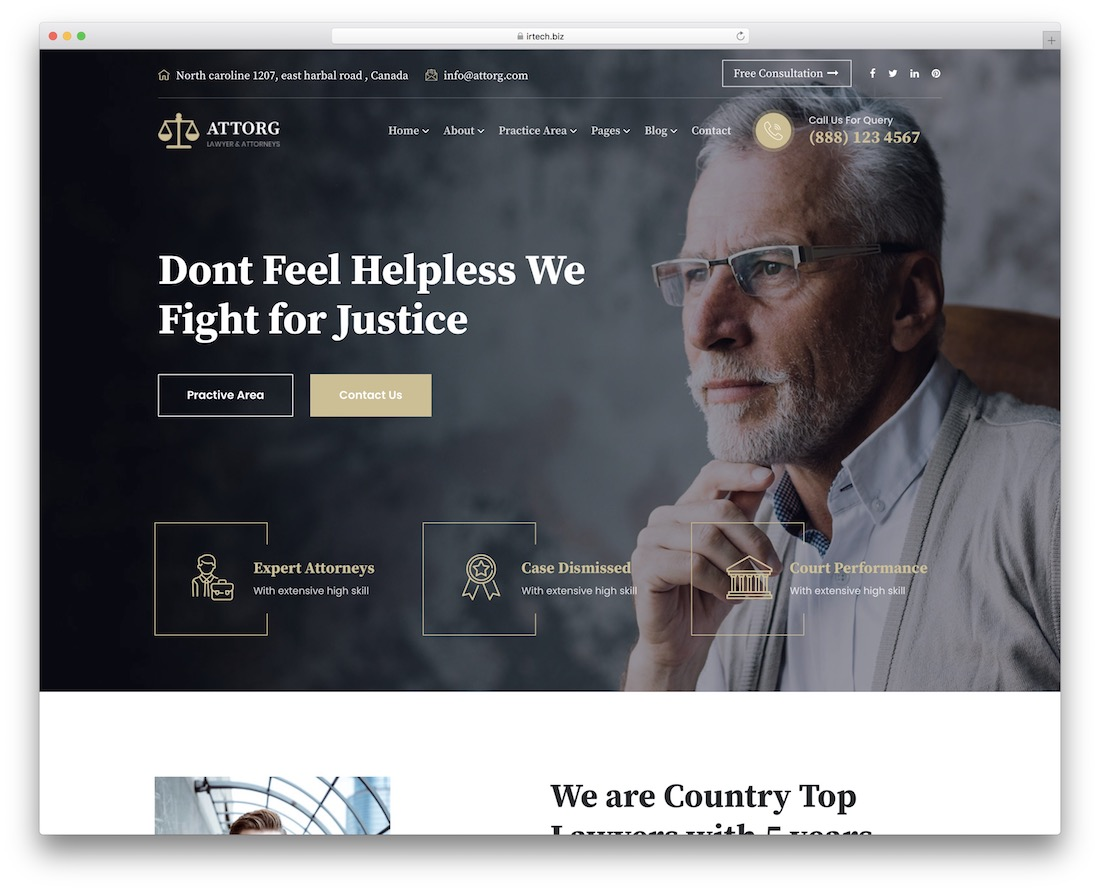 attorg lawyer wordpress theme