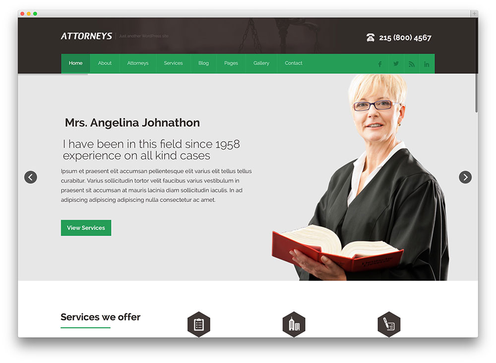 18 Professional Lawyer & Attorney WordPress Themes 2017 - colorlib