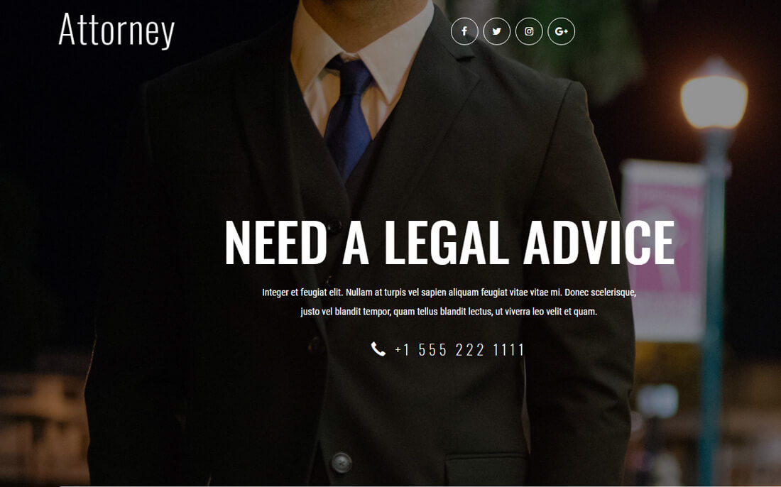 23 Best Free Lawyer Website Templates For Legal Sites 2018