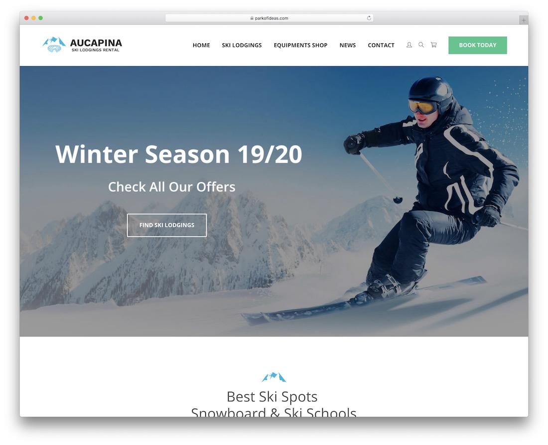 aucapina wordpress travel theme