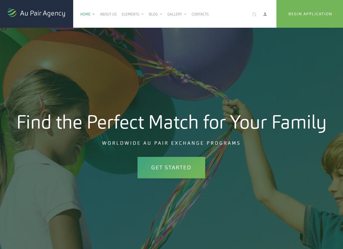 Au-Pair - Babysitting & Nanny Agency WordPress Theme