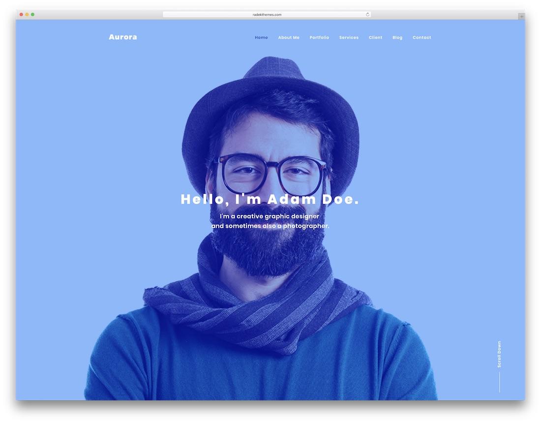 aurora graphic design website template
