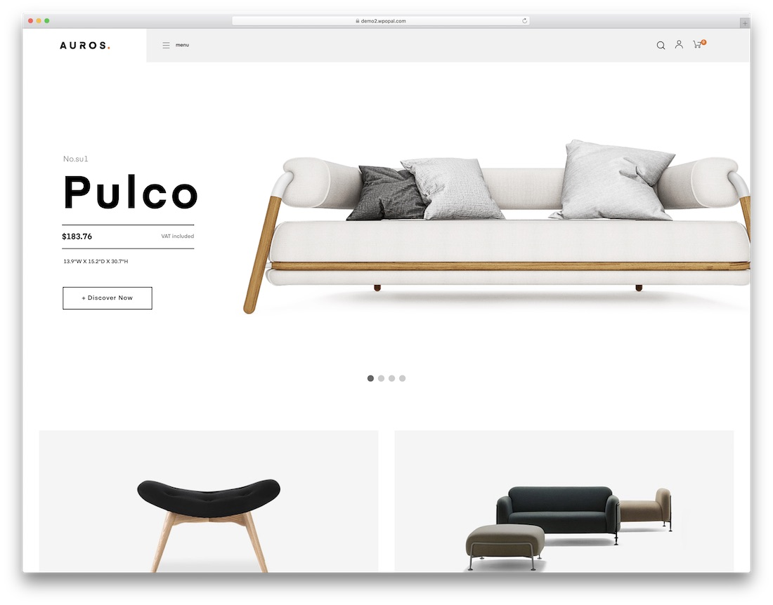 auros furniture wordpress theme