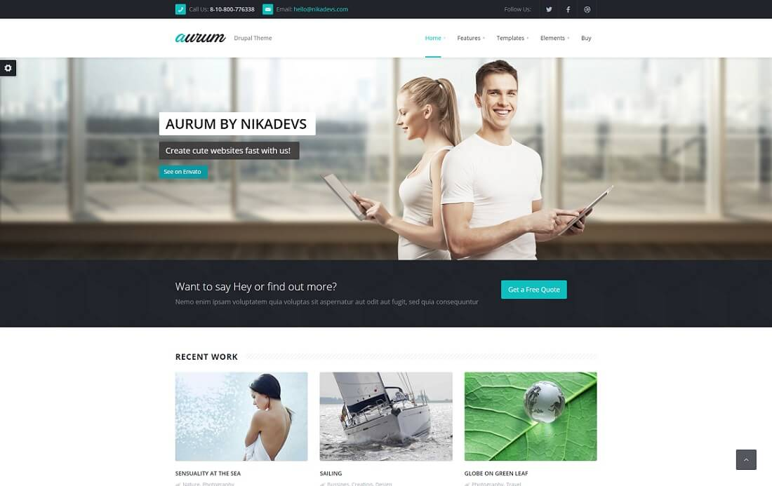 aurum drupal business template