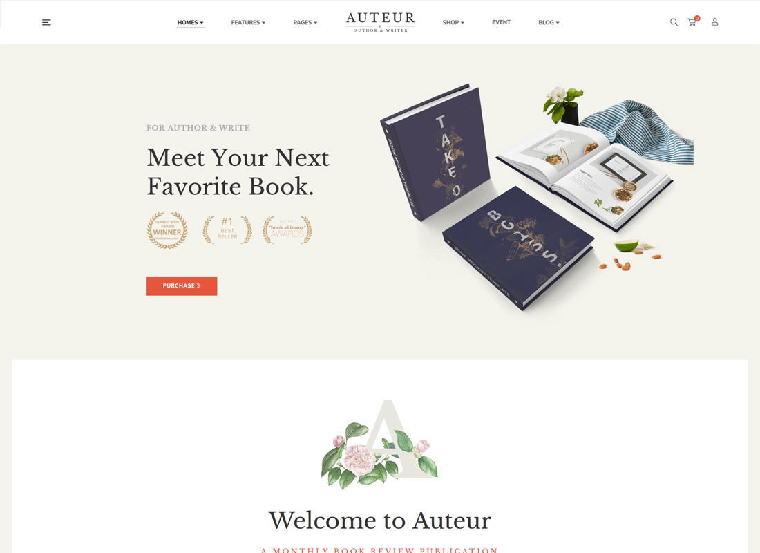 Auteur | WordPress Theme for Authors, Reviewers and Publishers