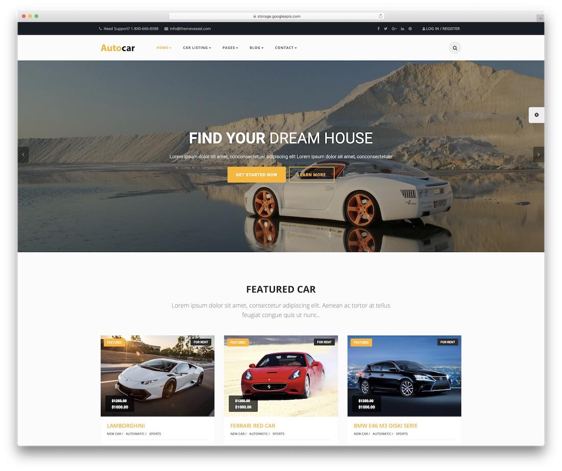 auto car automotive website template
