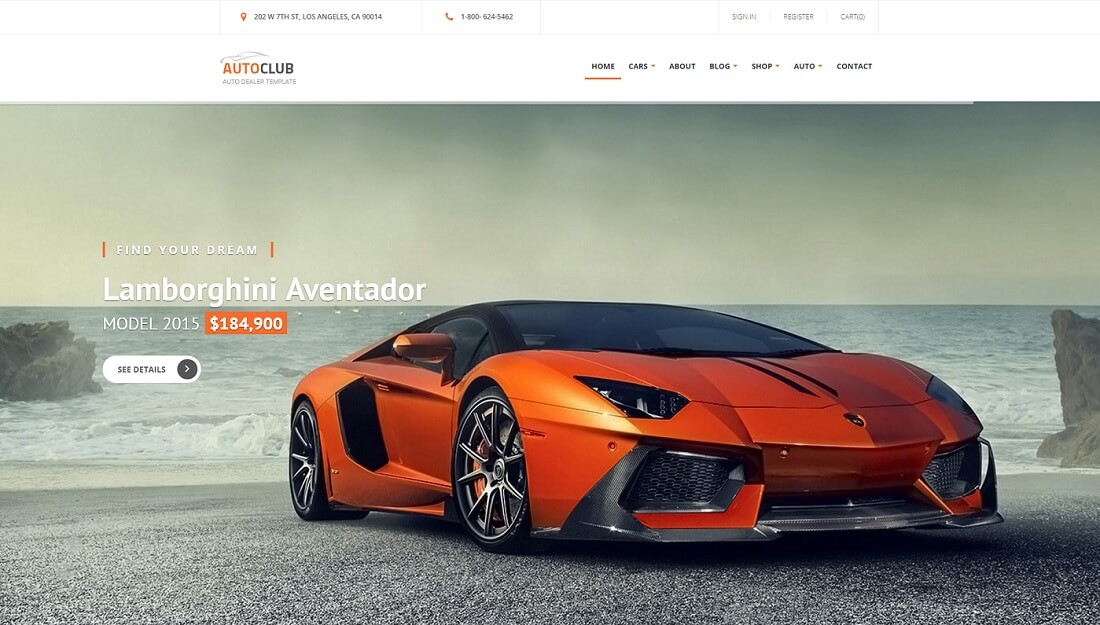 auto club drupal commerce template