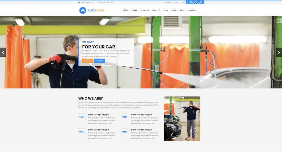 auto plus website template