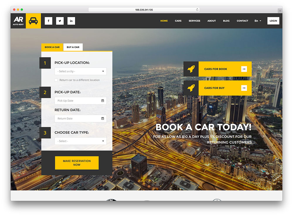 auto-rent-flat-design-wordpress-theme