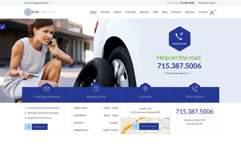 Top 15 Responsive Car Service / Auto Repair Shop WordPress Themes 2017