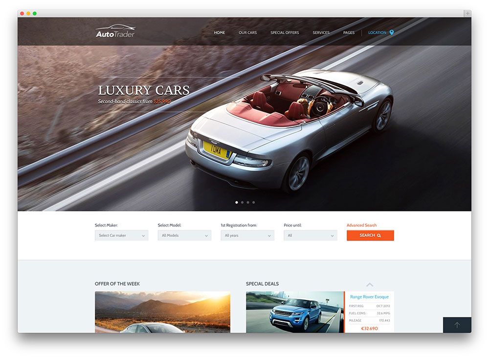 auto trader WordPress theme