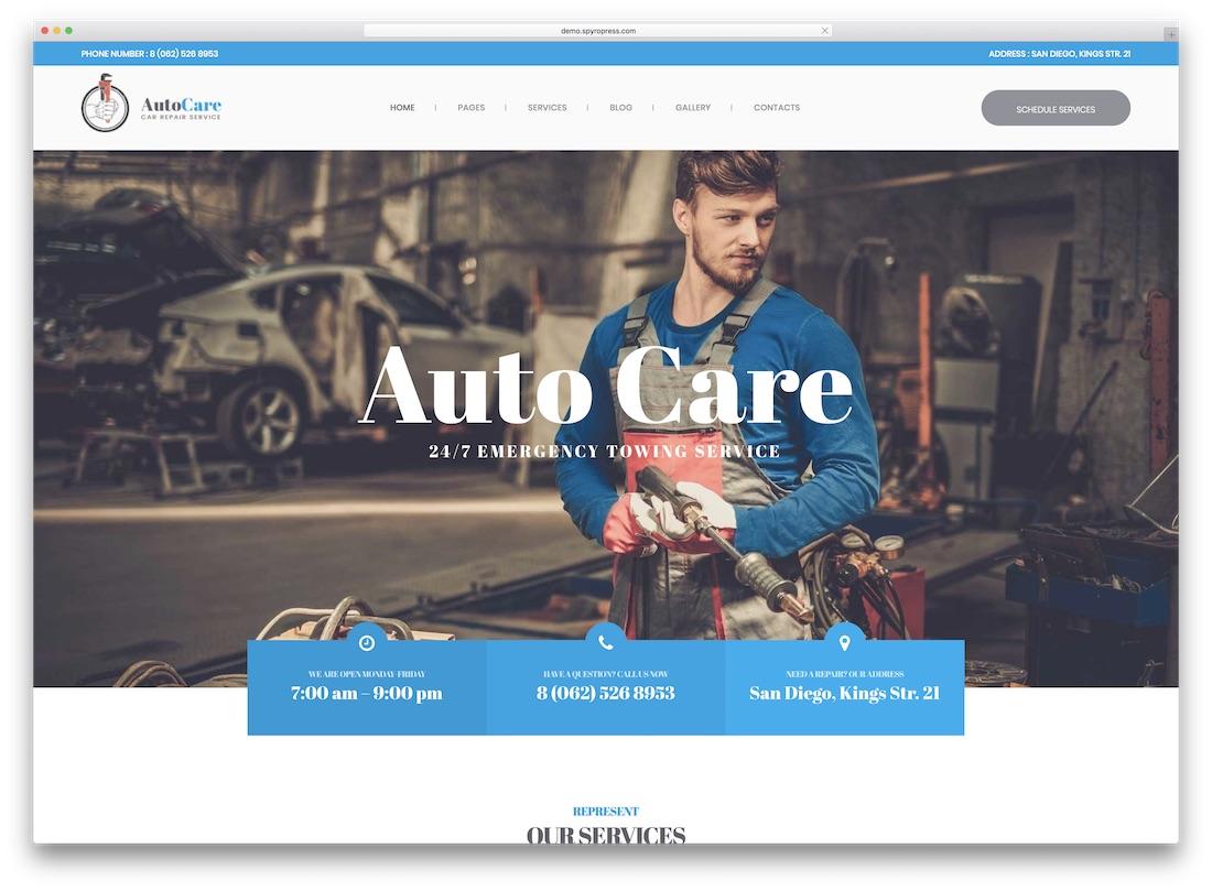 autocare ecwid compatible theme
