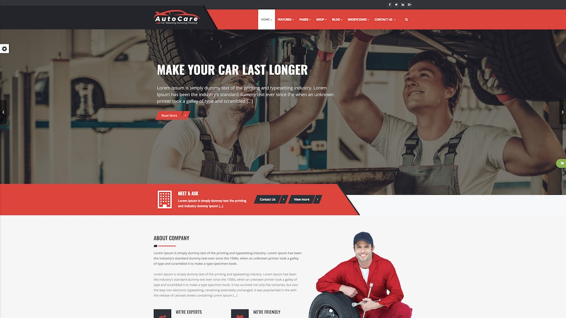 autocare website template