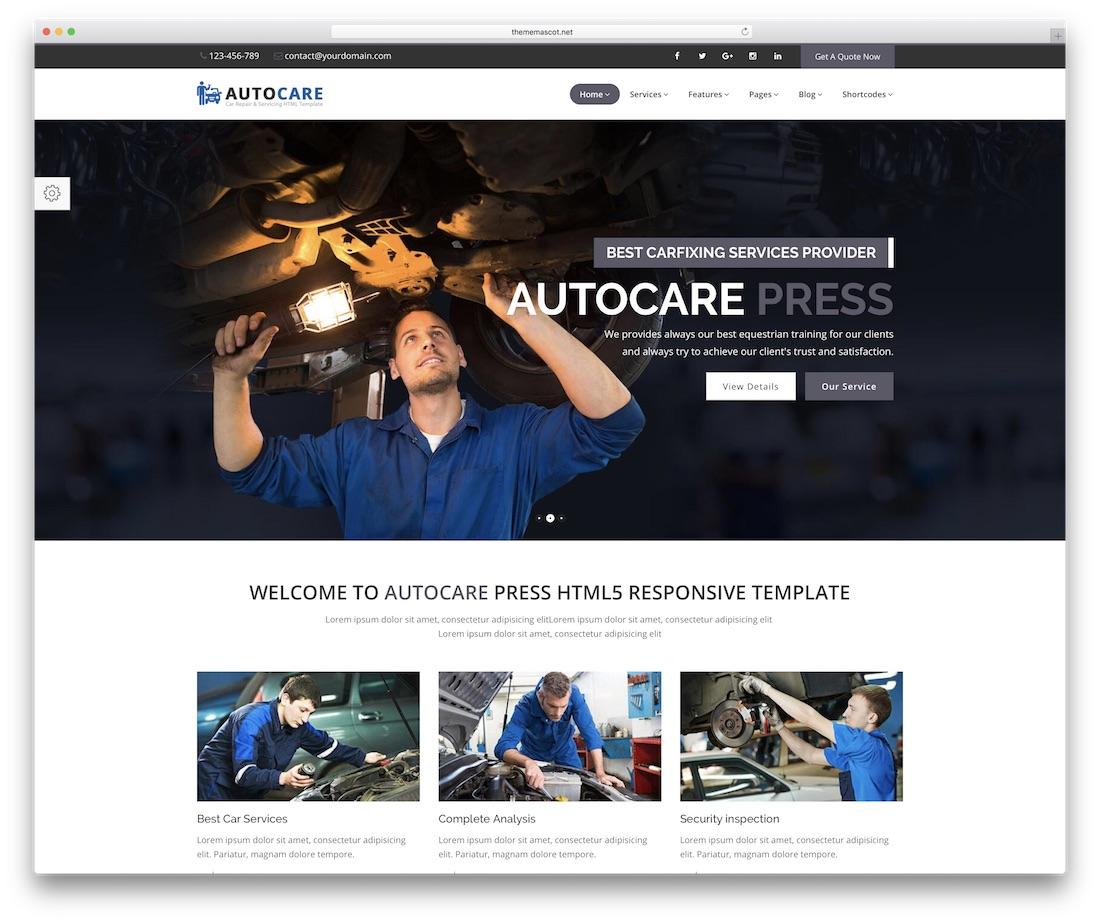 autocarepress automotive website template
