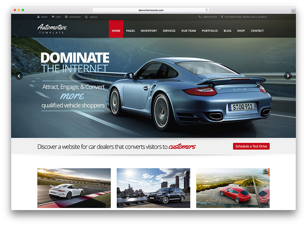 Car Dealer Website Templates Free