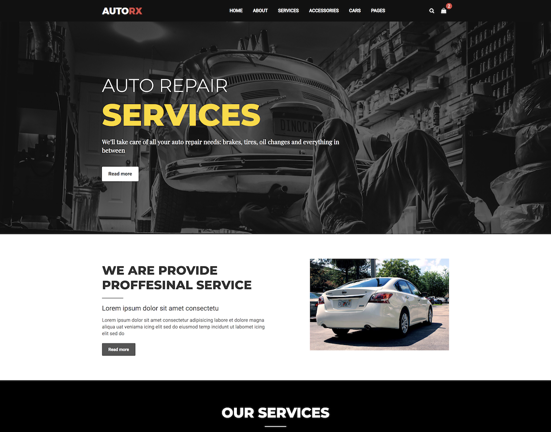 18 Top Car & Automotive Website Templates 2018