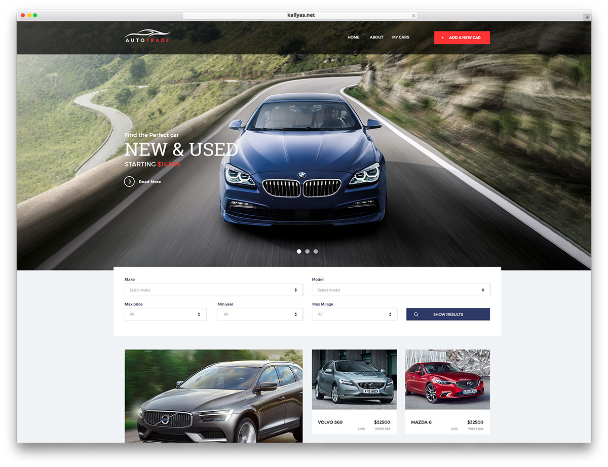 Sites for promotion of cars: a selection of sites