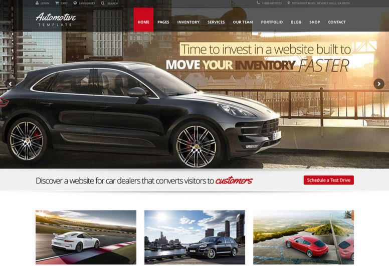 Top 20 Automotive WordPress Themes For Auto Rentals, Car Dealerships And News Websites 2017