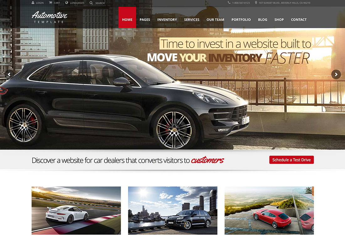 Top Car Automotive WordPress Themes Colorlib - Cool car websites