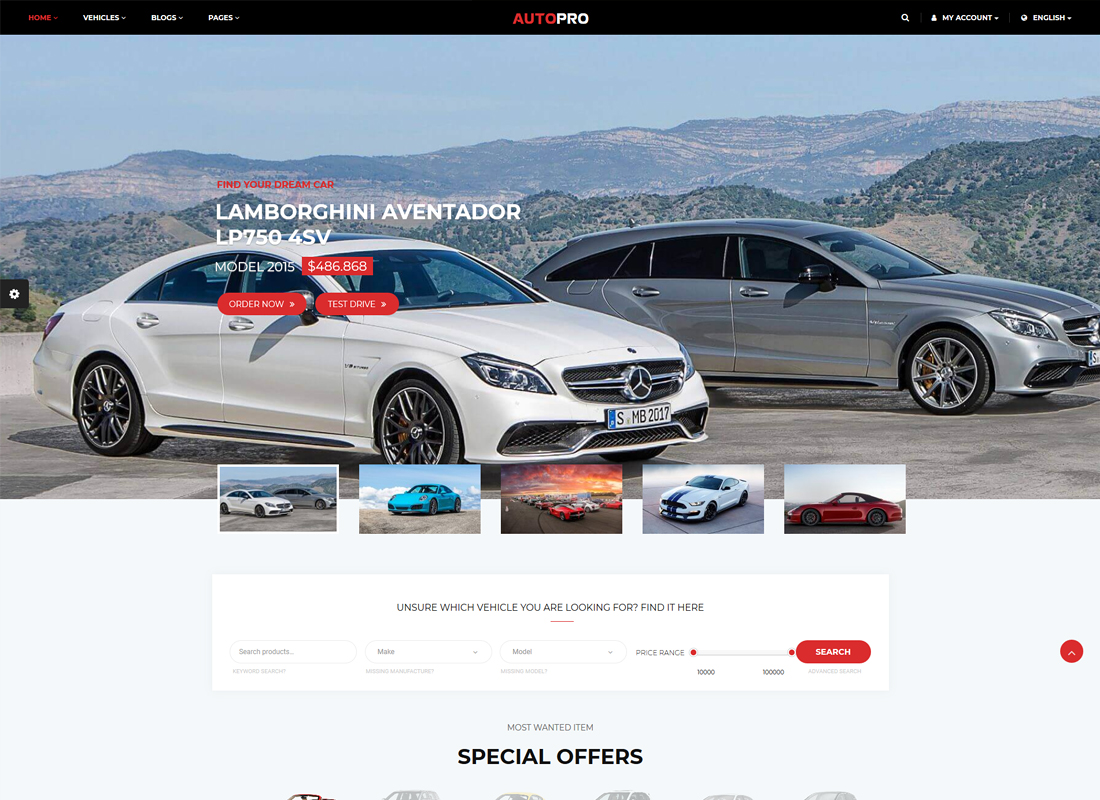 AutoPro - Car Dealer WordPress Theme