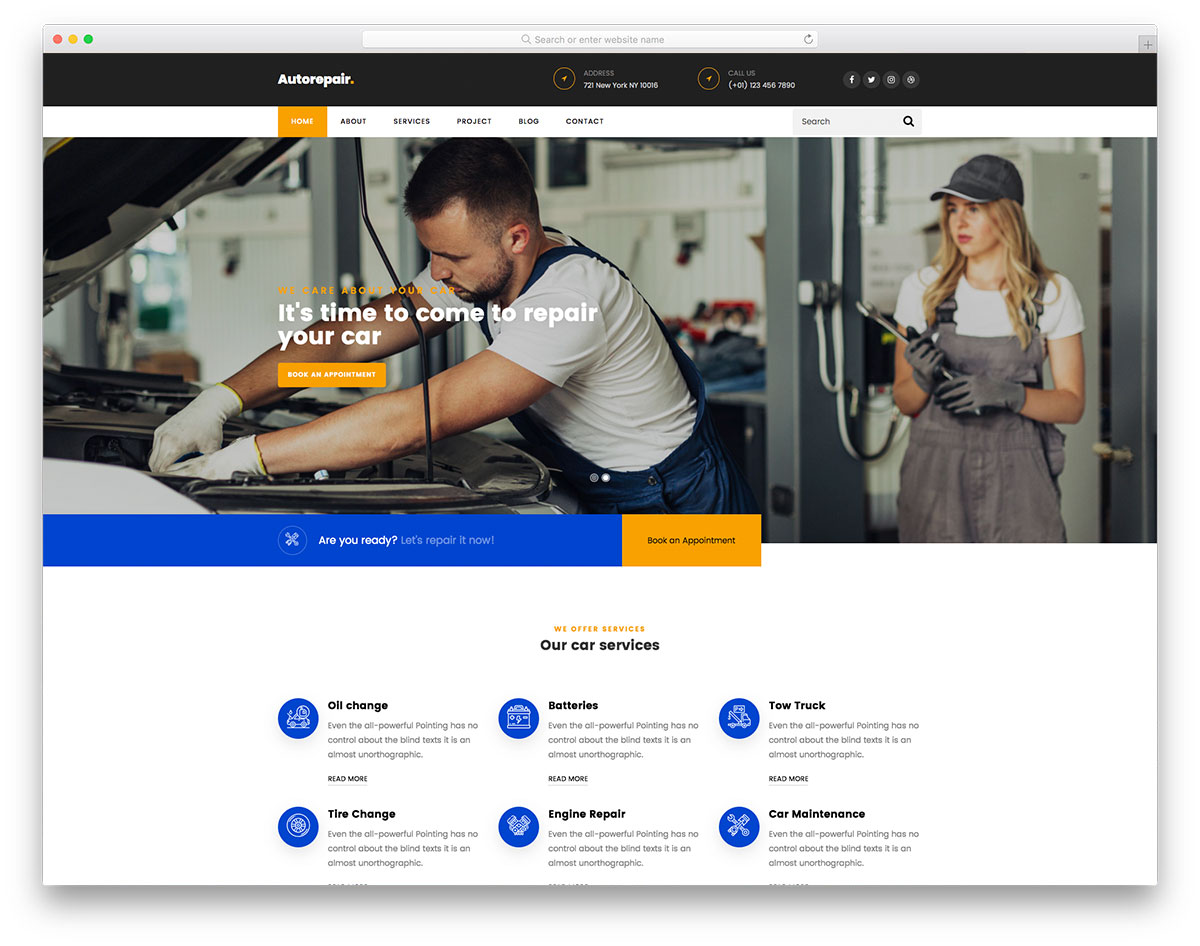 AutoRepair Free Template
