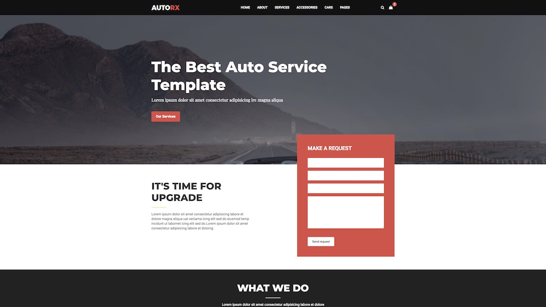 autorx website template