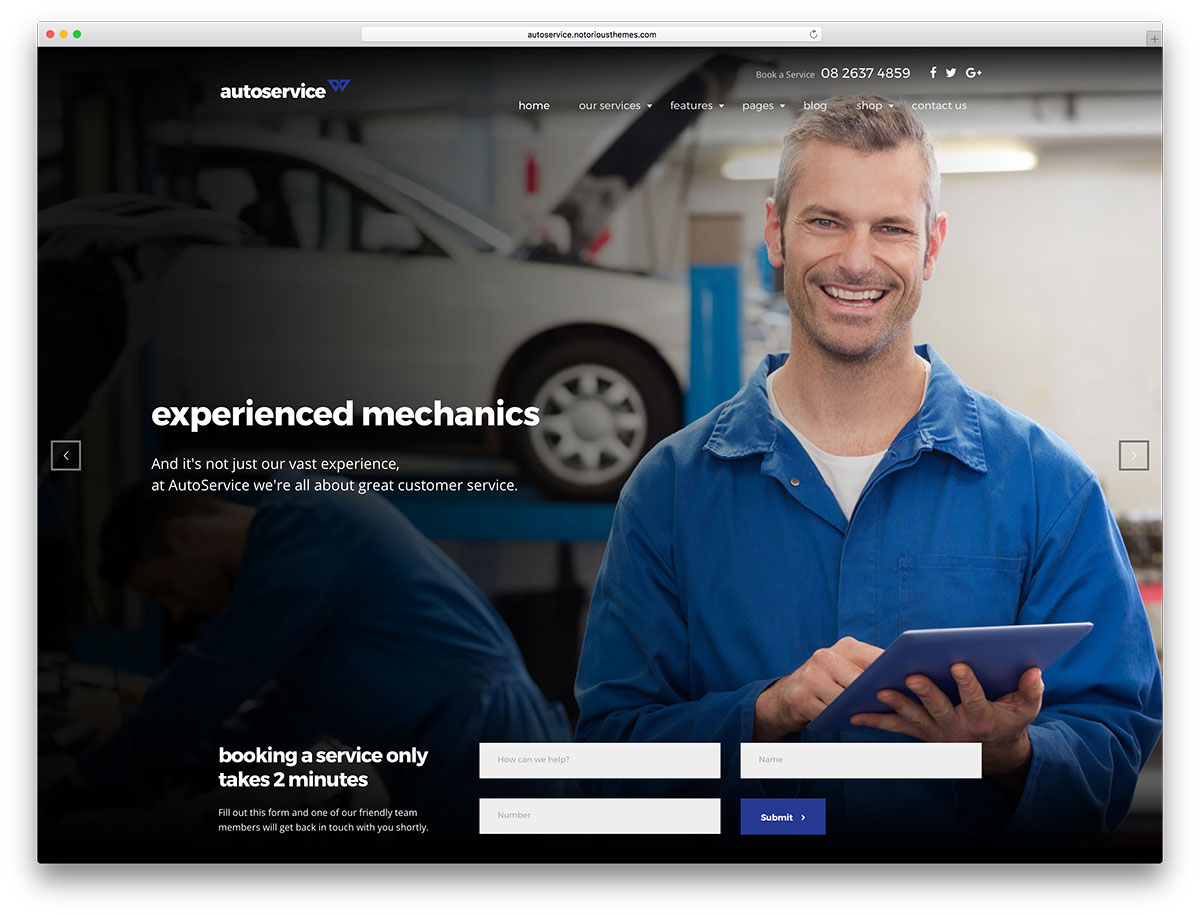 Autoservice is a professionally designed and laboriously developed meticulous and deliberate powerful and tech savvy clean and pristine