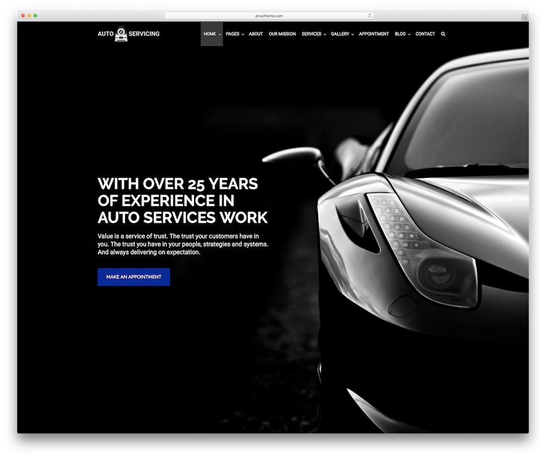 autoservicing automotive website template