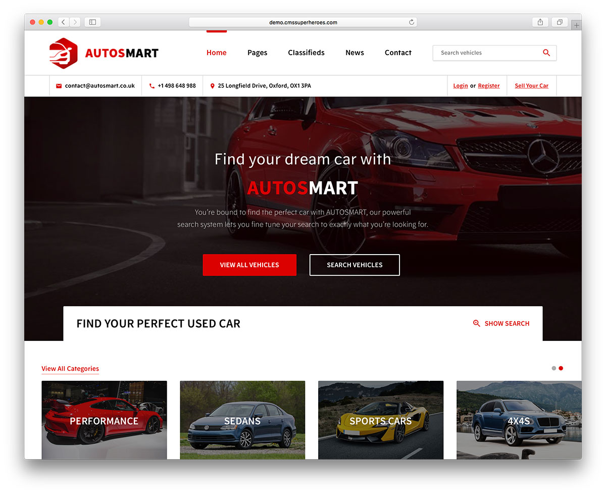 AutosMart – Automotive Car Dealer WordPress Theme