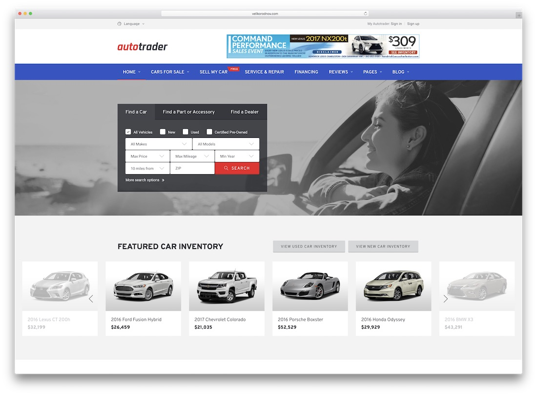 autotrader directory website template