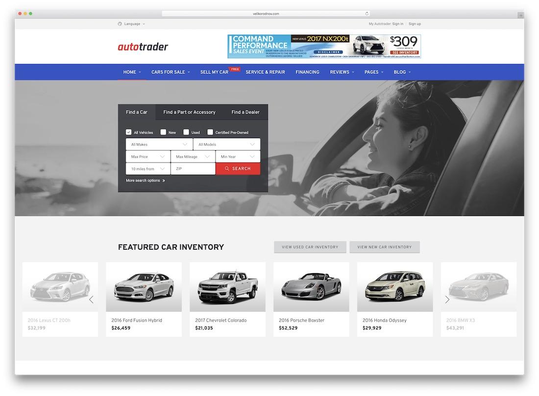 autotrader directory website template