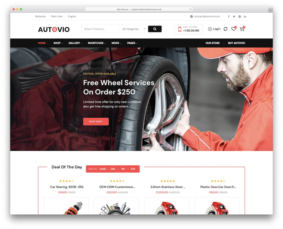autovio automotive wordpress theme