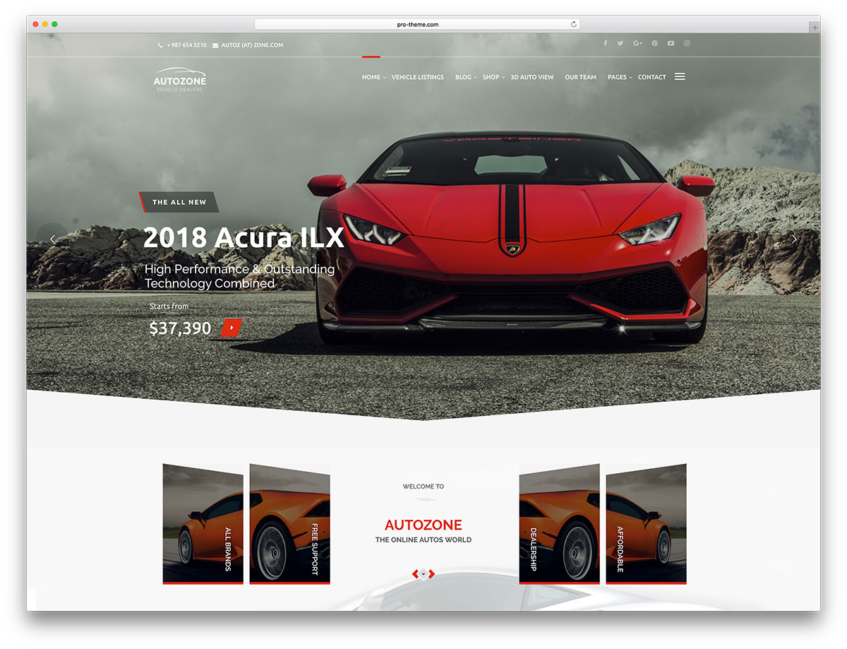 Autozone is a creative and responsive wordpress car dealership website theme autozone is a resourceful framework for crafting elegant and functional