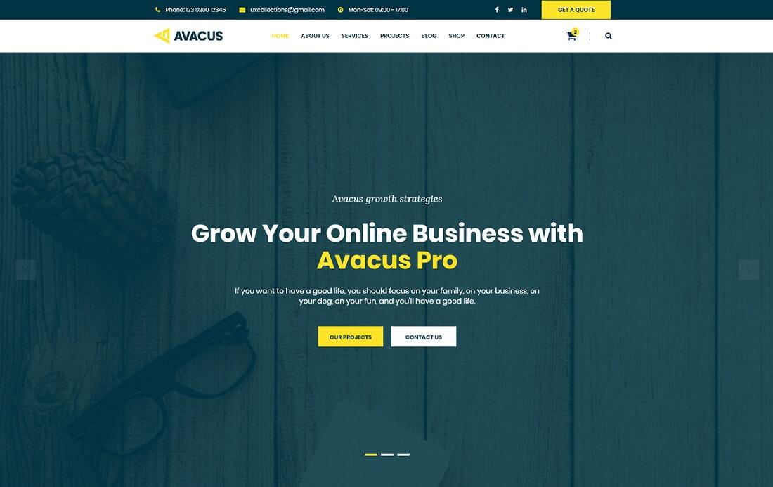 avacus artist website template