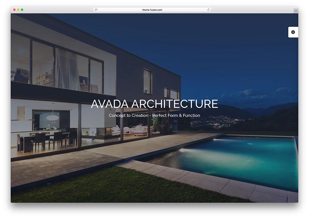 avada - multipurpose architect business theme