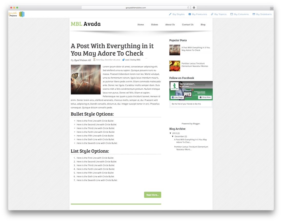 Avada Free Blogger Template