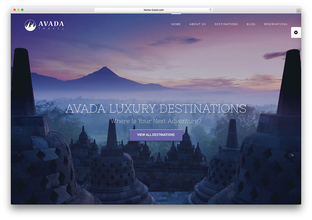 avada - fullscreen travel agency theme