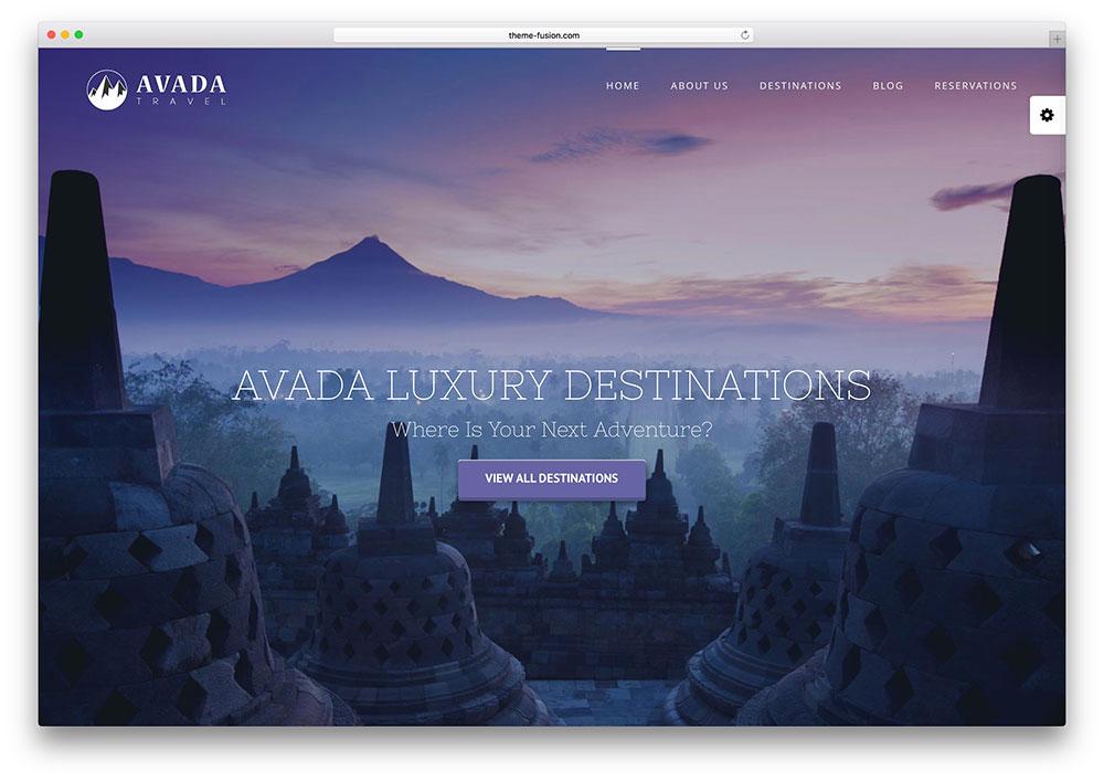 avada - fullscreen travel agency theme