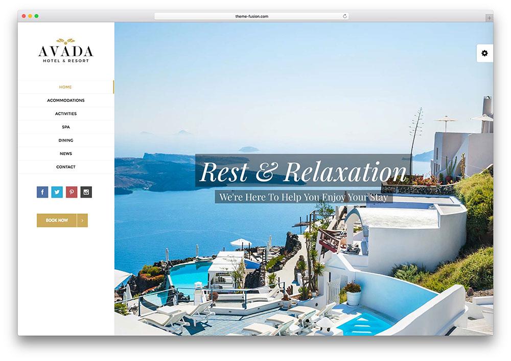 avada - hotel booking wordpress theme