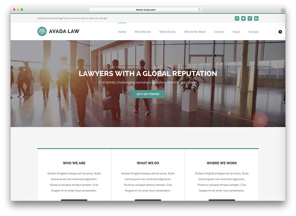 avada - law firm wordpress theme
