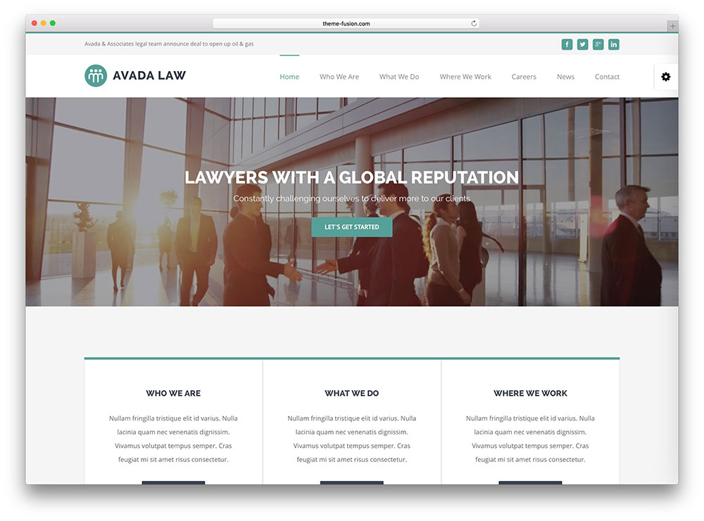 avada - advanced lawyer wp theme