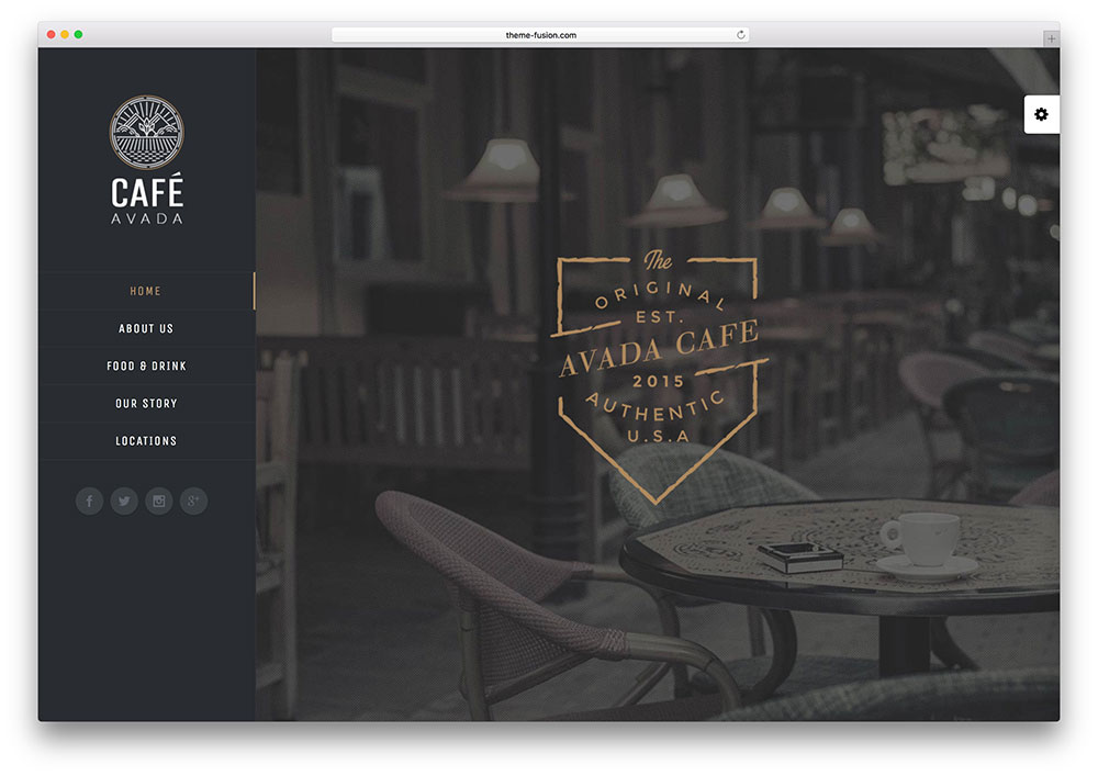avada - local cafe WordPress theme